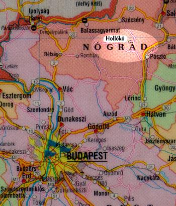 hollókő térkép Megközelítés hollókő térkép